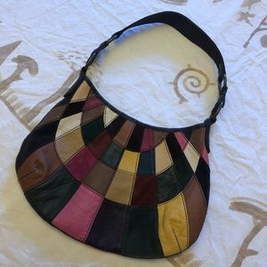 Lucky Brand Multi-Color Patchwork Leather Hobo